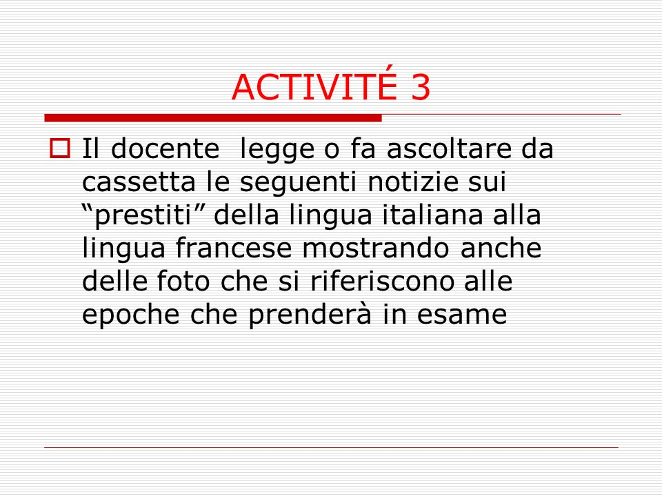ACTIVITÉ 3