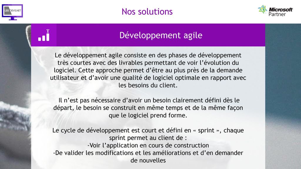 -Voir l'application en cours de construction