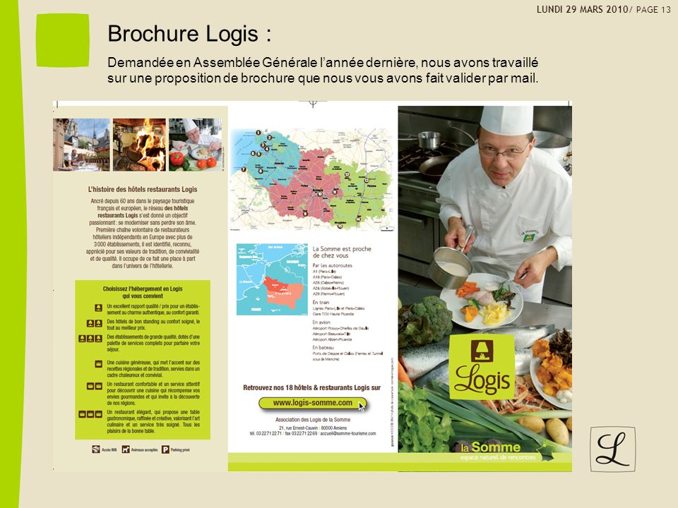 LUNDI 29 MARS 2010/ PAGE 13 Brochure Logis :