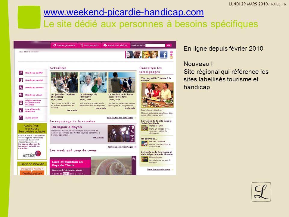 Le site dédié aux personnes à besoins spécifiques