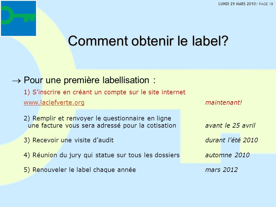 Comment obtenir le label