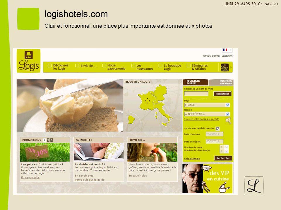 LUNDI 29 MARS 2010/ PAGE 23 logishotels.com.