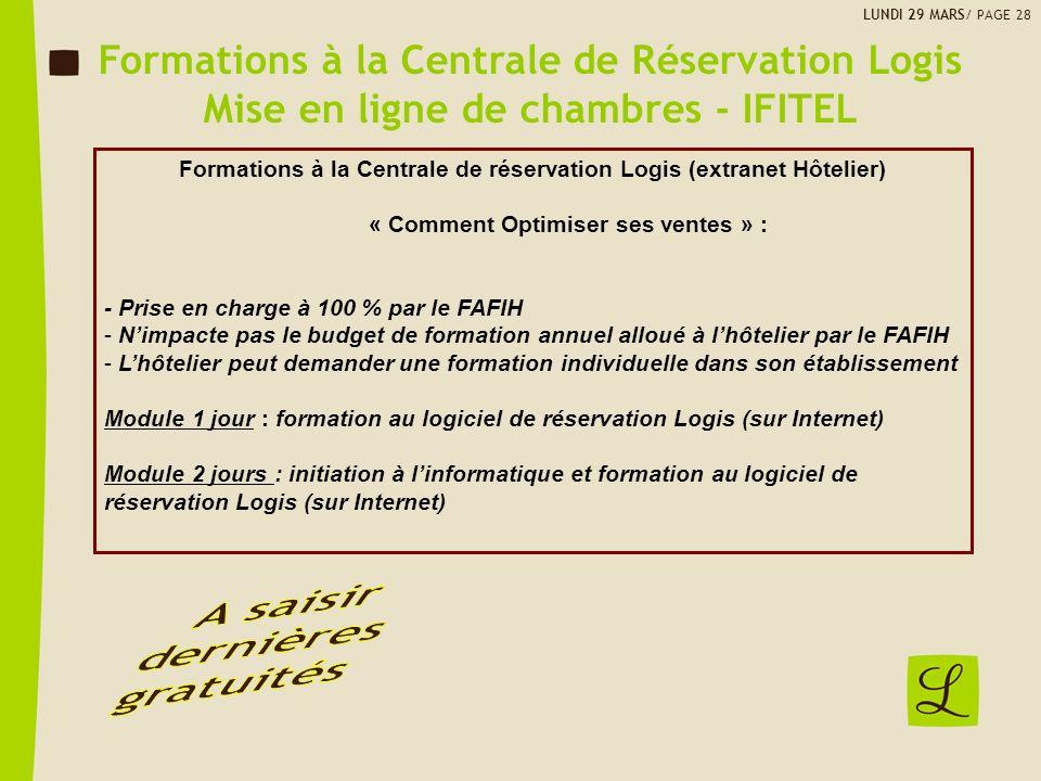 Formations à la Centrale de Réservation Logis