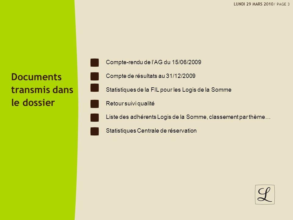 Documents transmis dans le dossier Compte-rendu de l'AG du 15/06/2009