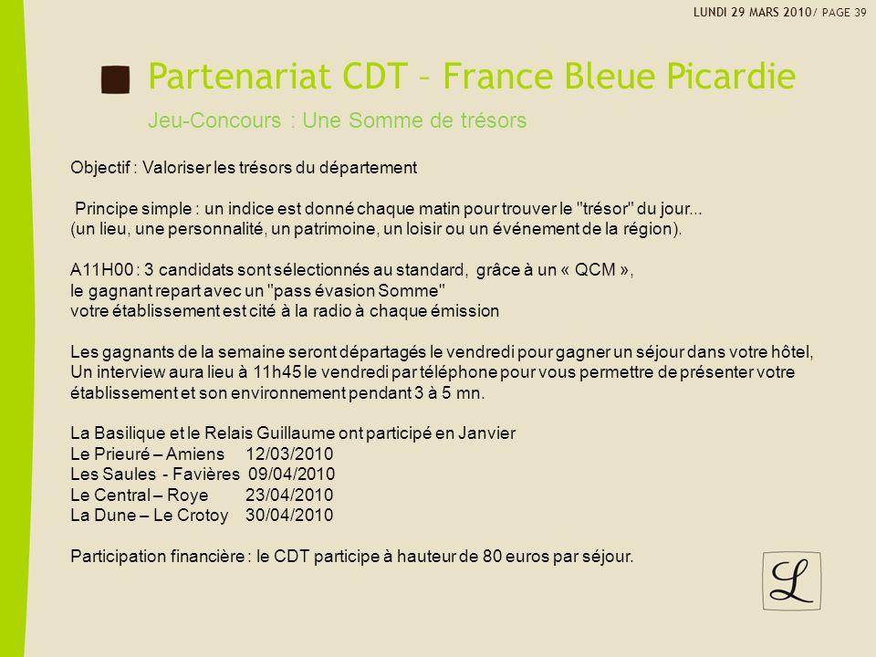 Partenariat CDT – France Bleue Picardie