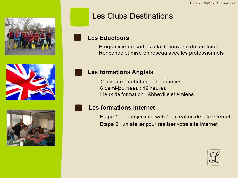 Les Clubs Destinations