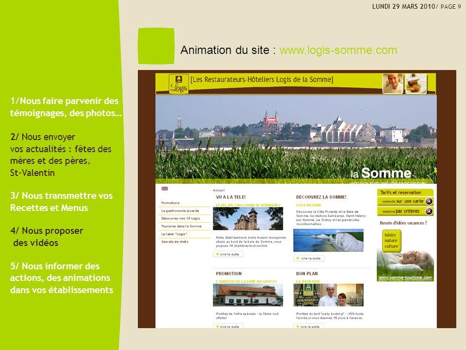 Animation du site : www.logis-somme.com