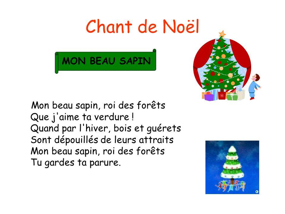Chant de Noël MON BEAU SAPIN