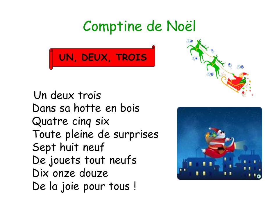 Comptine de Noël UN, DEUX, TROIS.