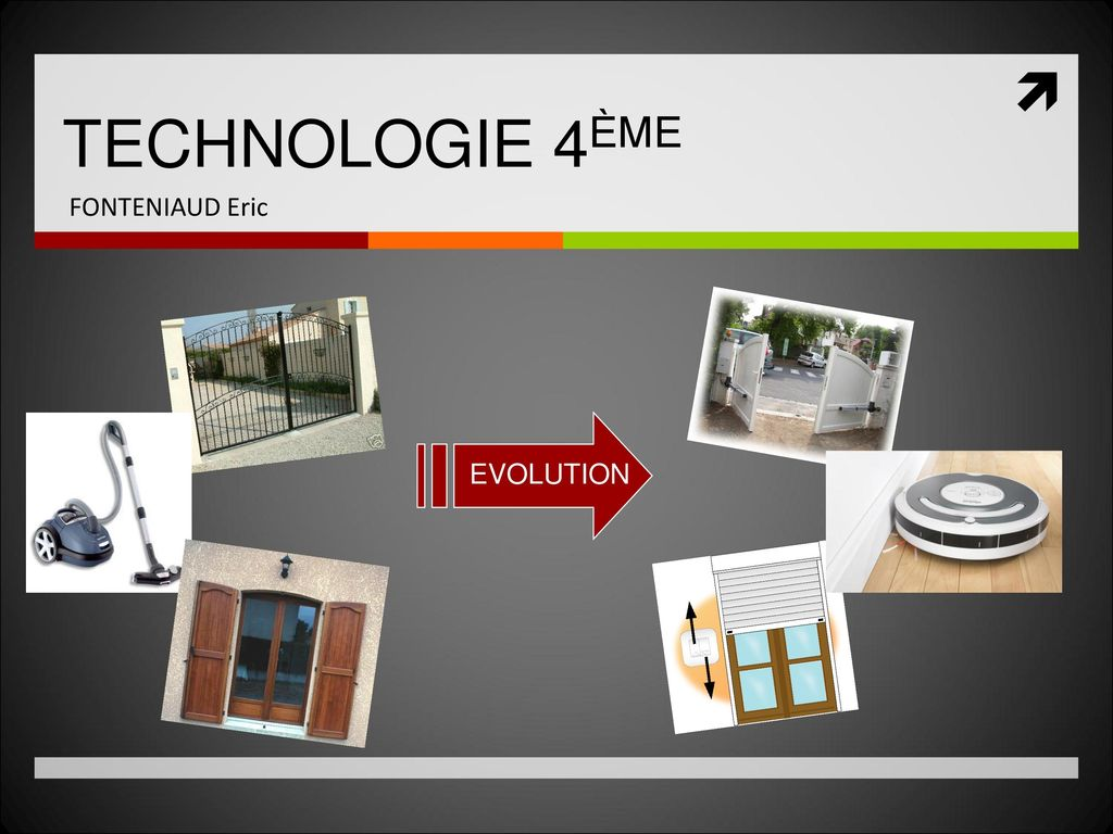 TECHNOLOGIE 4ÈME FONTENIAUD Eric EVOLUTION