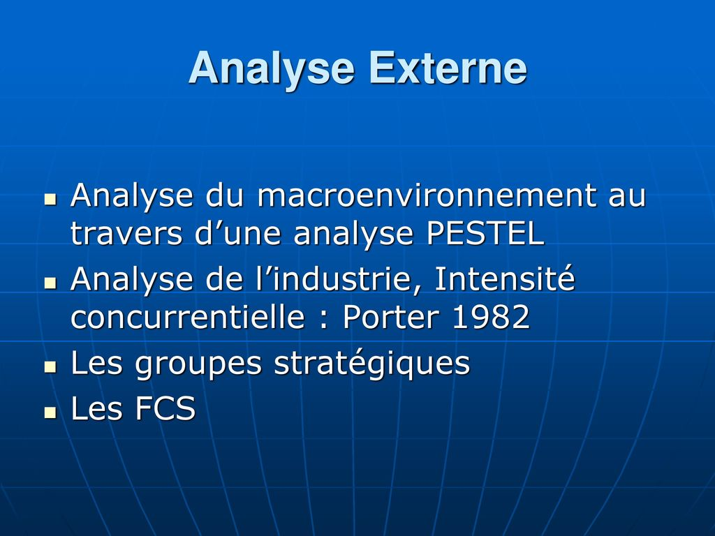 Analyse et planification strat gique ppt t l charger - Analyse concurrentielle porter ...