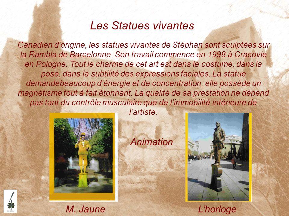 Les Statues vivantes Animation M. Jaune L'horloge