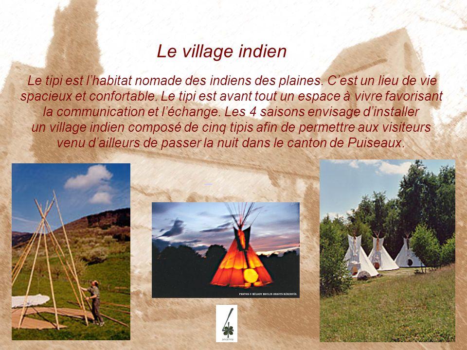 Le village indien.