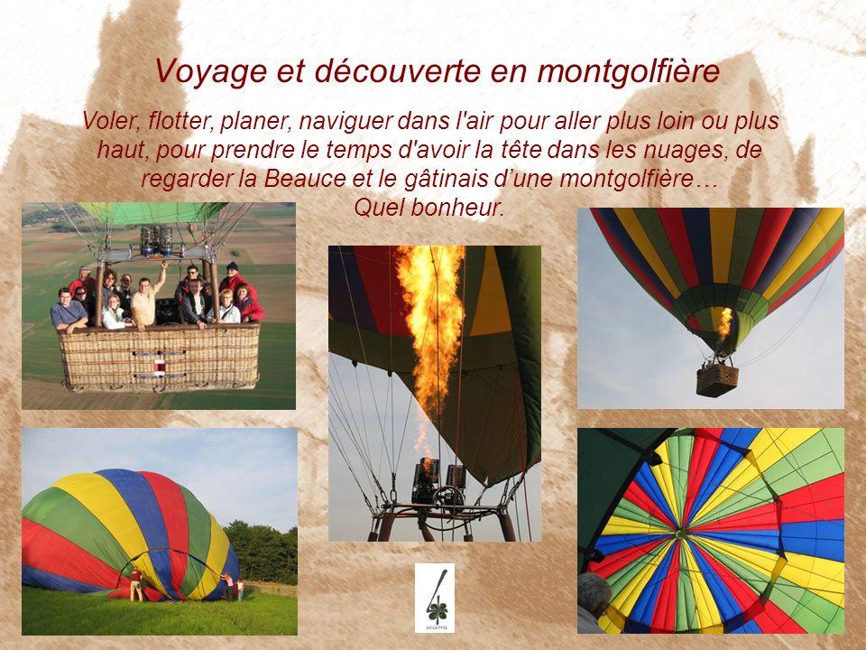 Voyage et découverte en montgolfière