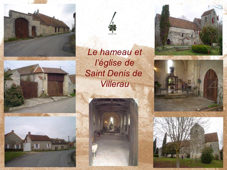 Le hameau et l'église de Saint Denis de Villerau