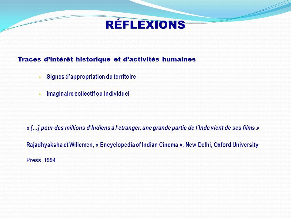 RÉFLEXIONS Traces d'intérêt historique et d'activités humaines