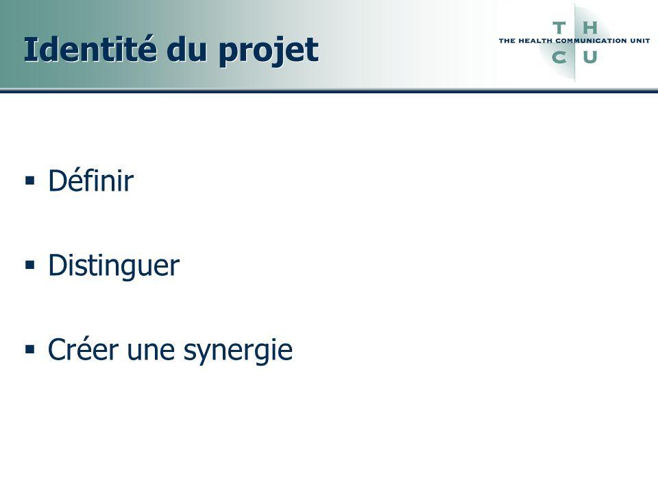 Identité du projet Définir Distinguer Créer une synergie