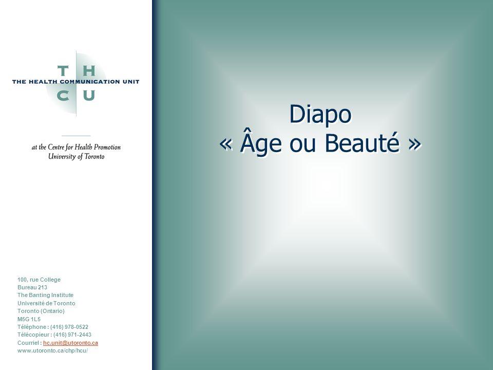 Diapo « Âge ou Beauté »