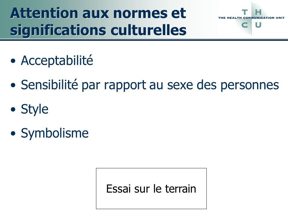 Attention aux normes et significations culturelles