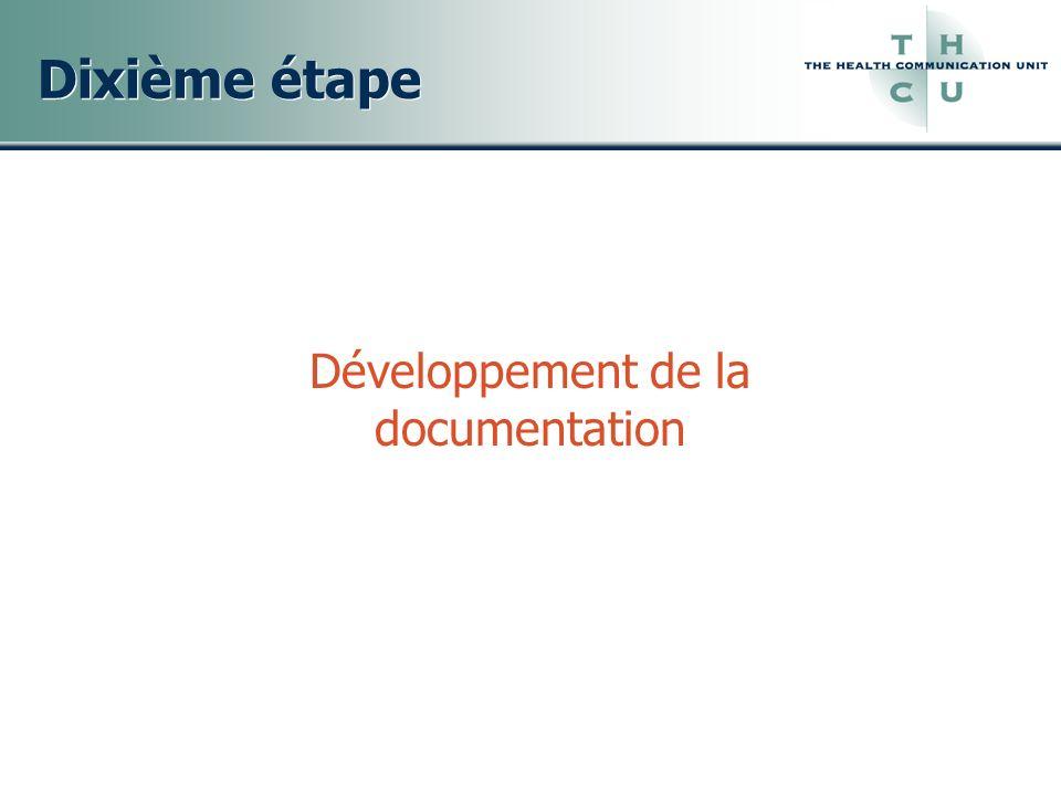 Développement de la documentation