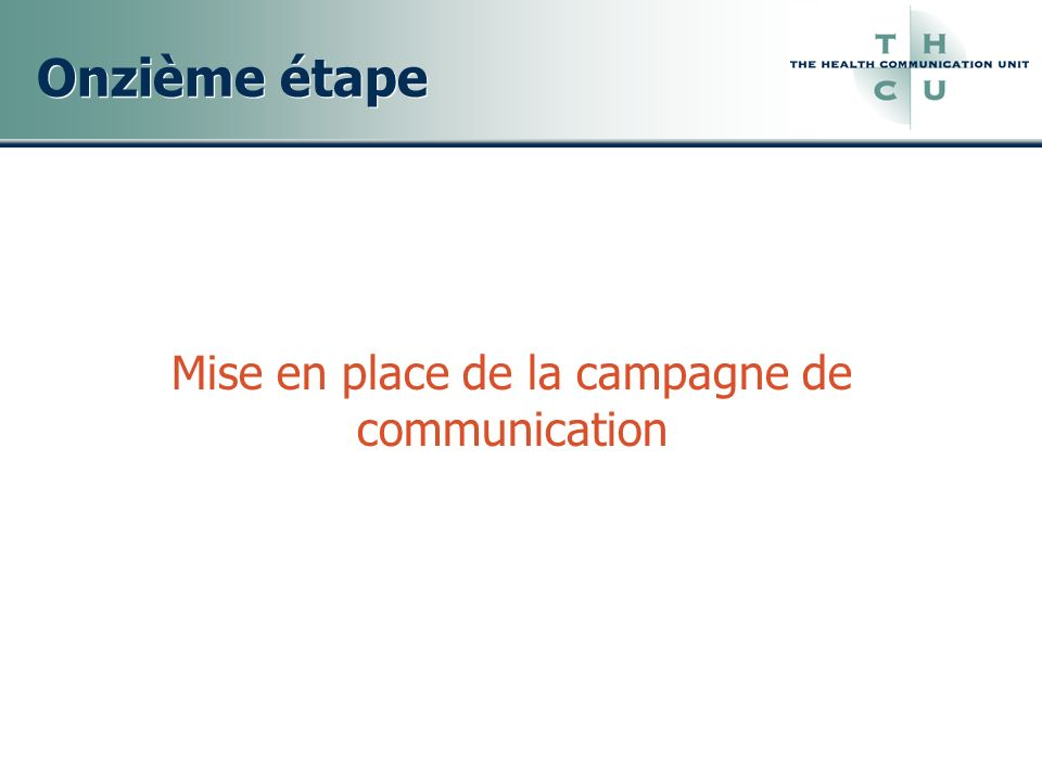 Mise en place de la campagne de communication