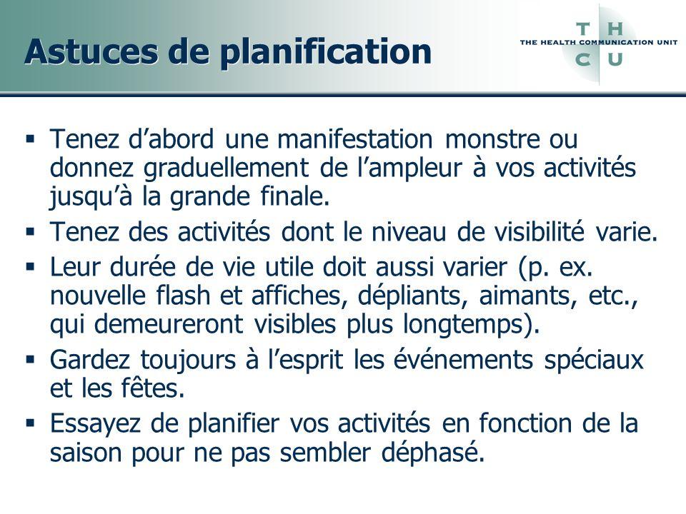 Astuces de planification