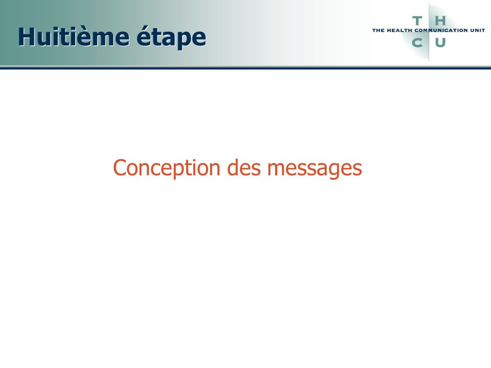 Conception des messages