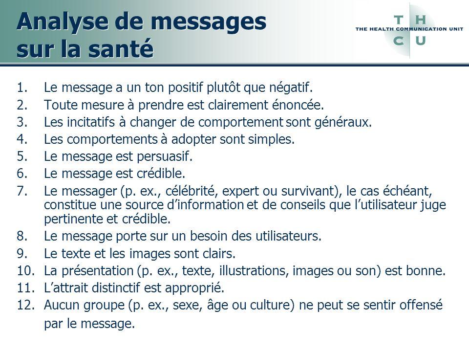 Analyse de messages sur la santé