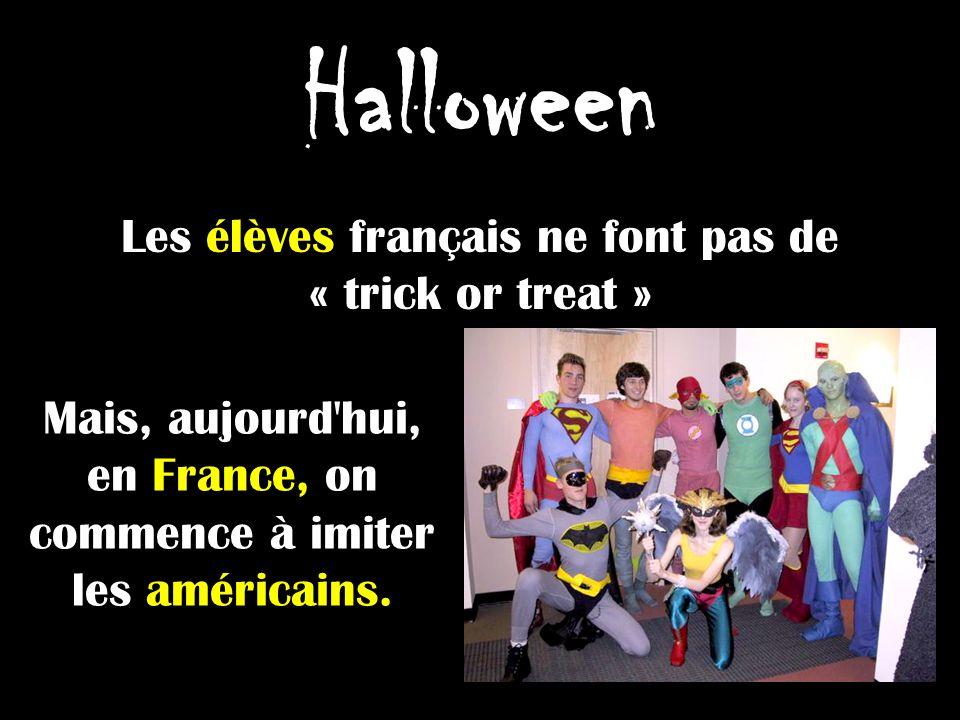 Halloween Les élèves français ne font pas de « trick or treat »