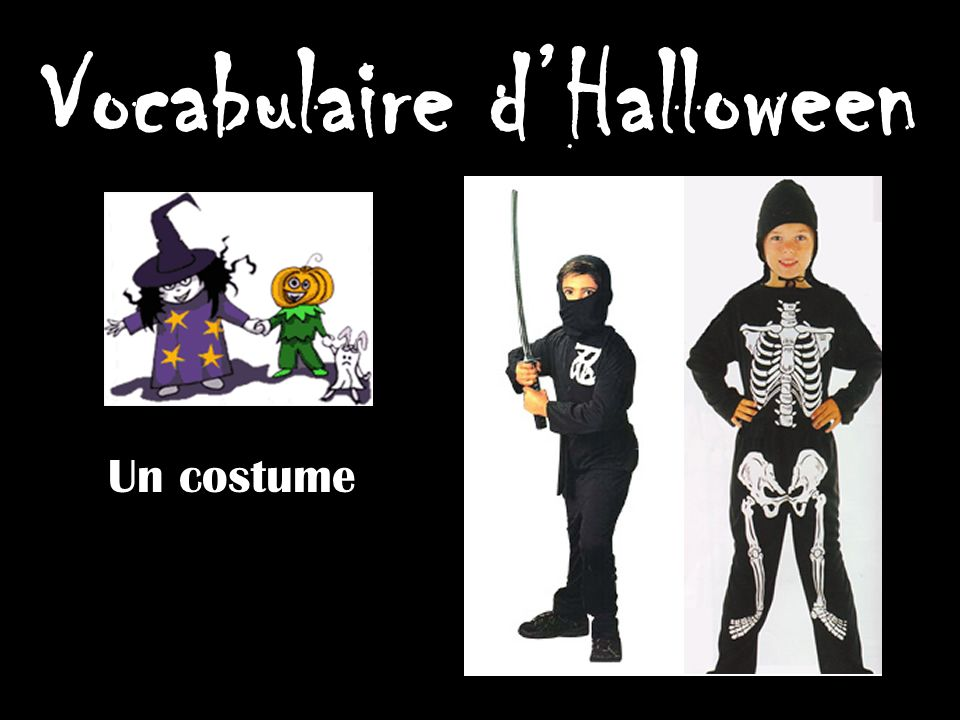 Vocabulaire d'Halloween