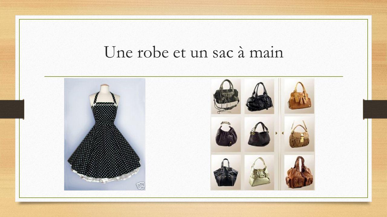 Une robe et un sac à main