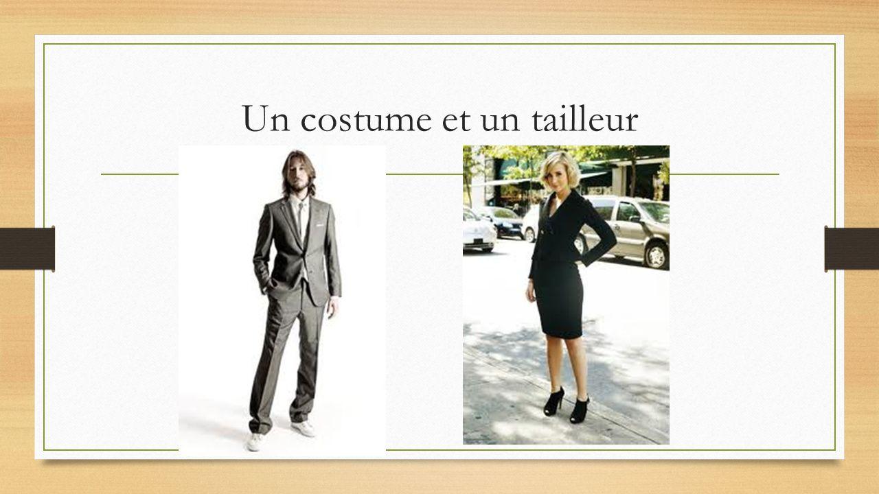 Un costume et un tailleur