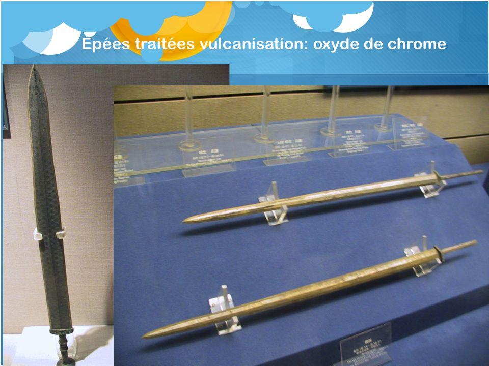 Épées traitées vulcanisation: oxyde de chrome