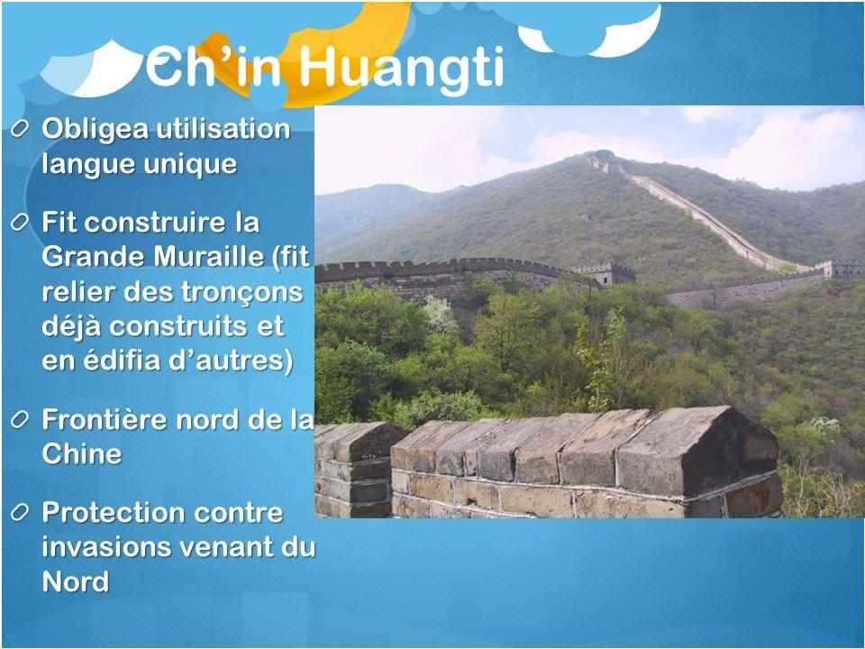 Ch'in Huangti Obligea utilisation langue unique