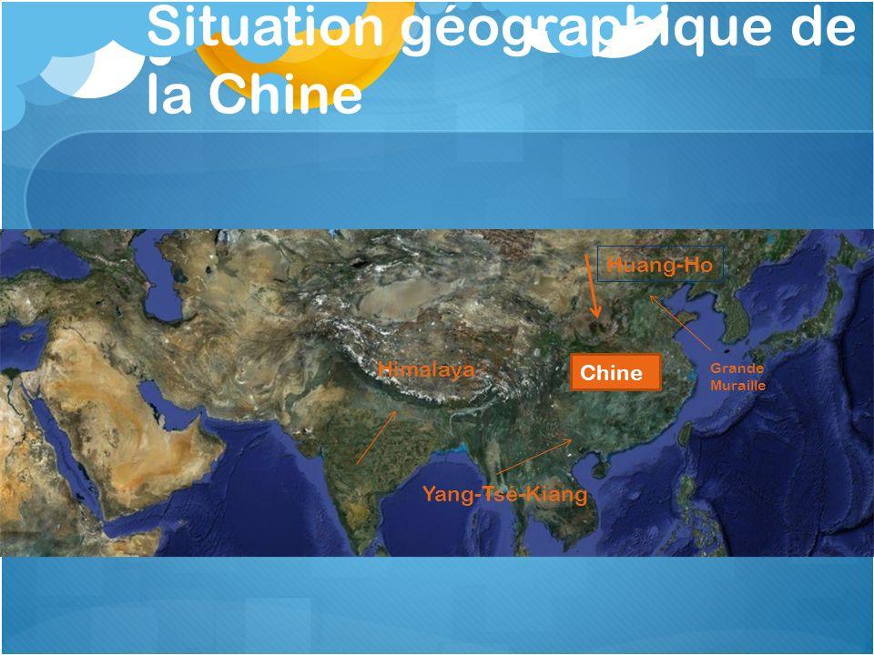 Situation géographique de la Chine