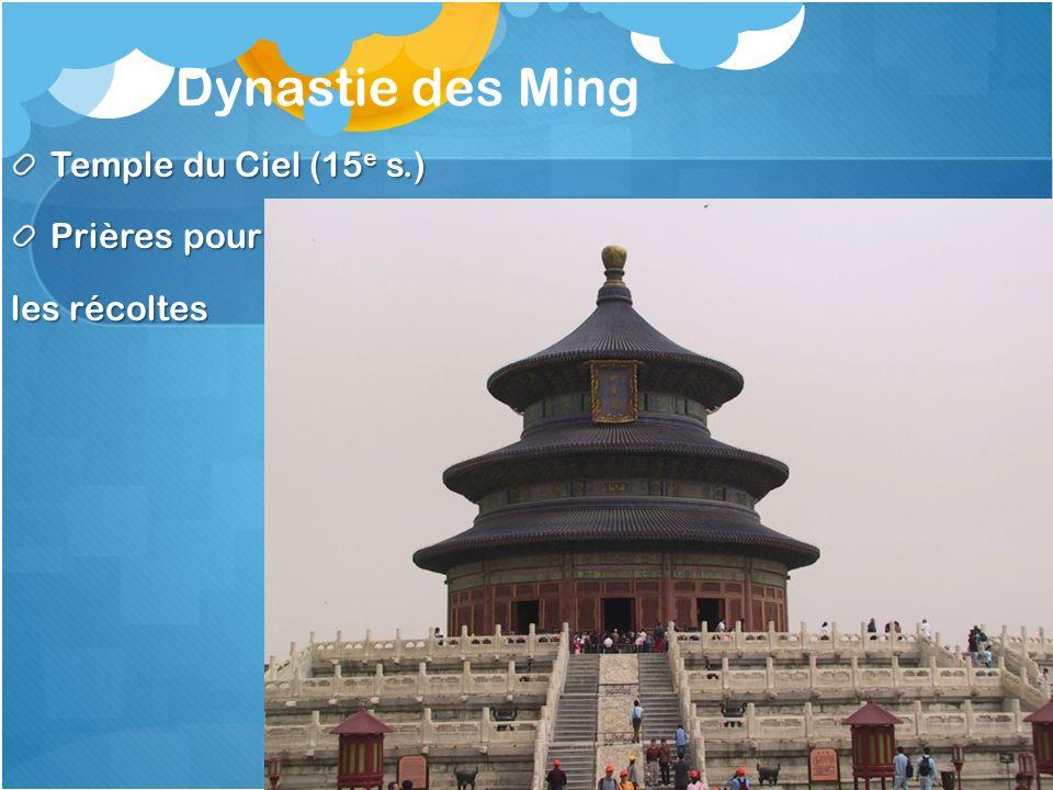 Dynastie des Ming Temple du Ciel (15e s.) Prières pour les récoltes