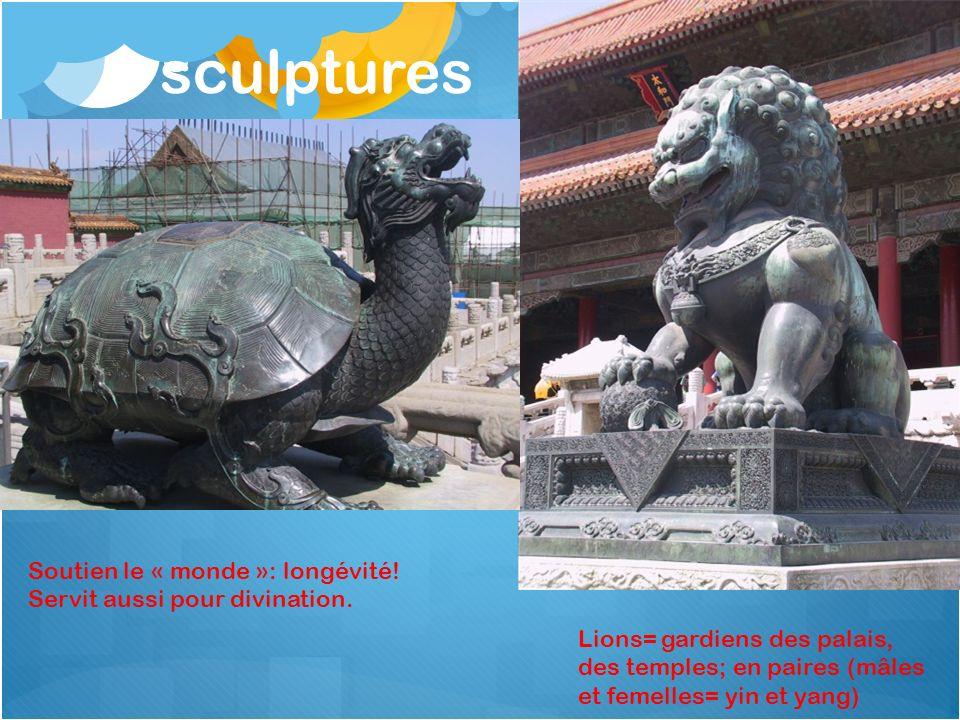 sculptures Soutien le « monde »: longévité!
