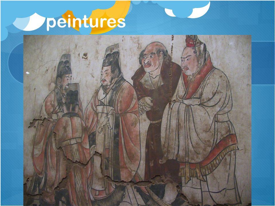 peintures Dynastie T'ang: 7e s.