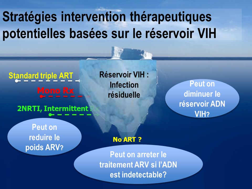 Stratégies intervention thérapeutiques potentielles basées sur le réservoir VIH