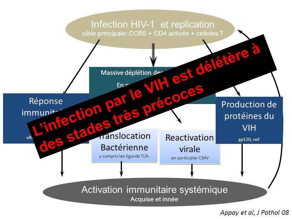 L'infection par le VIH est délétère à des stades très précoces