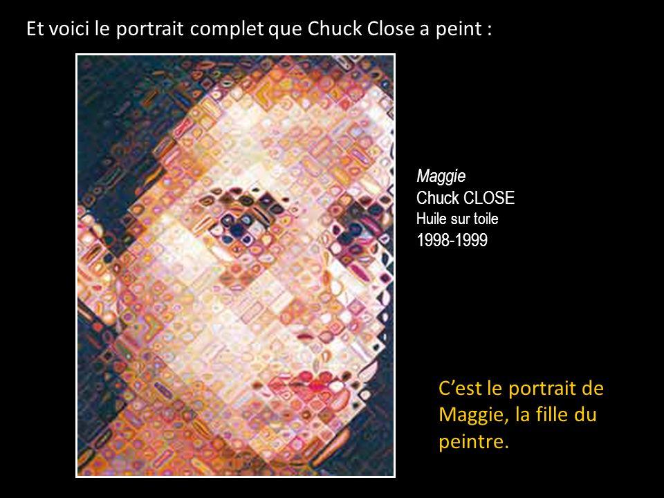 Et voici le portrait complet que Chuck Close a peint :