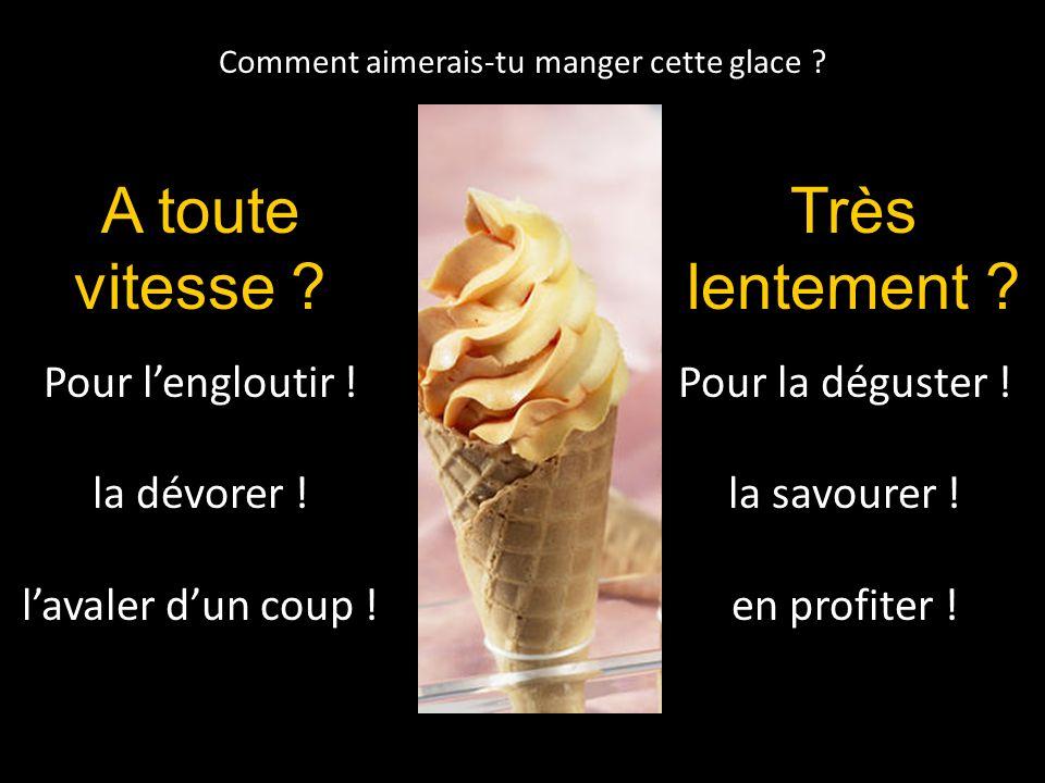 Comment aimerais-tu manger cette glace