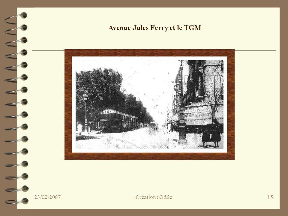 Avenue Jules Ferry et le TGM
