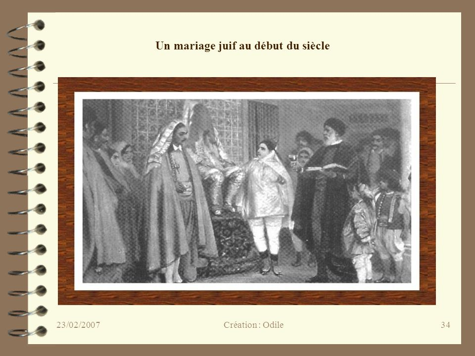 Un mariage juif au début du siècle