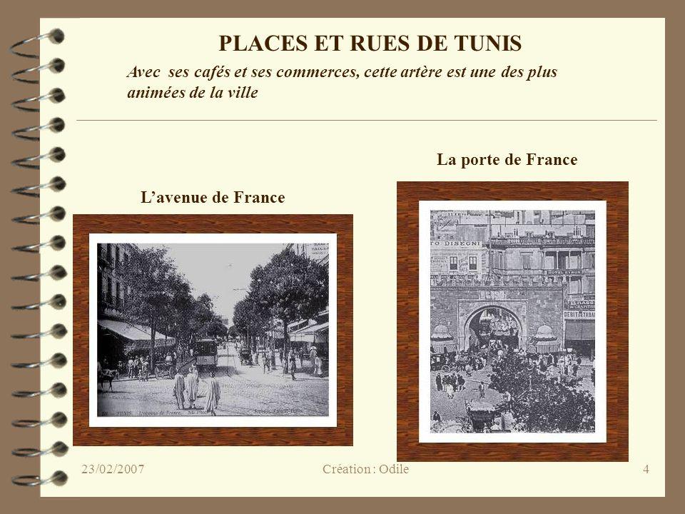 PLACES ET RUES DE TUNIS Avec ses cafés et ses commerces, cette artère est une des plus animées de la ville.