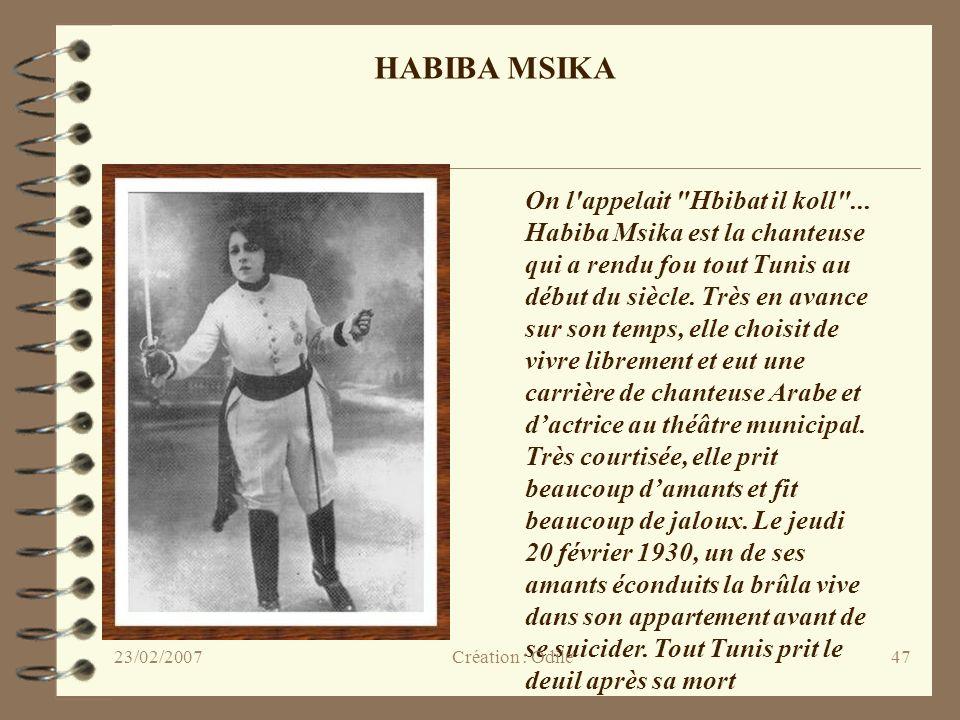 HABIBA MSIKA On l appelait Hbibat il koll ...