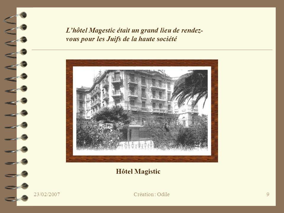 L'hôtel Magestic était un grand lieu de rendez-vous pour les Juifs de la haute société