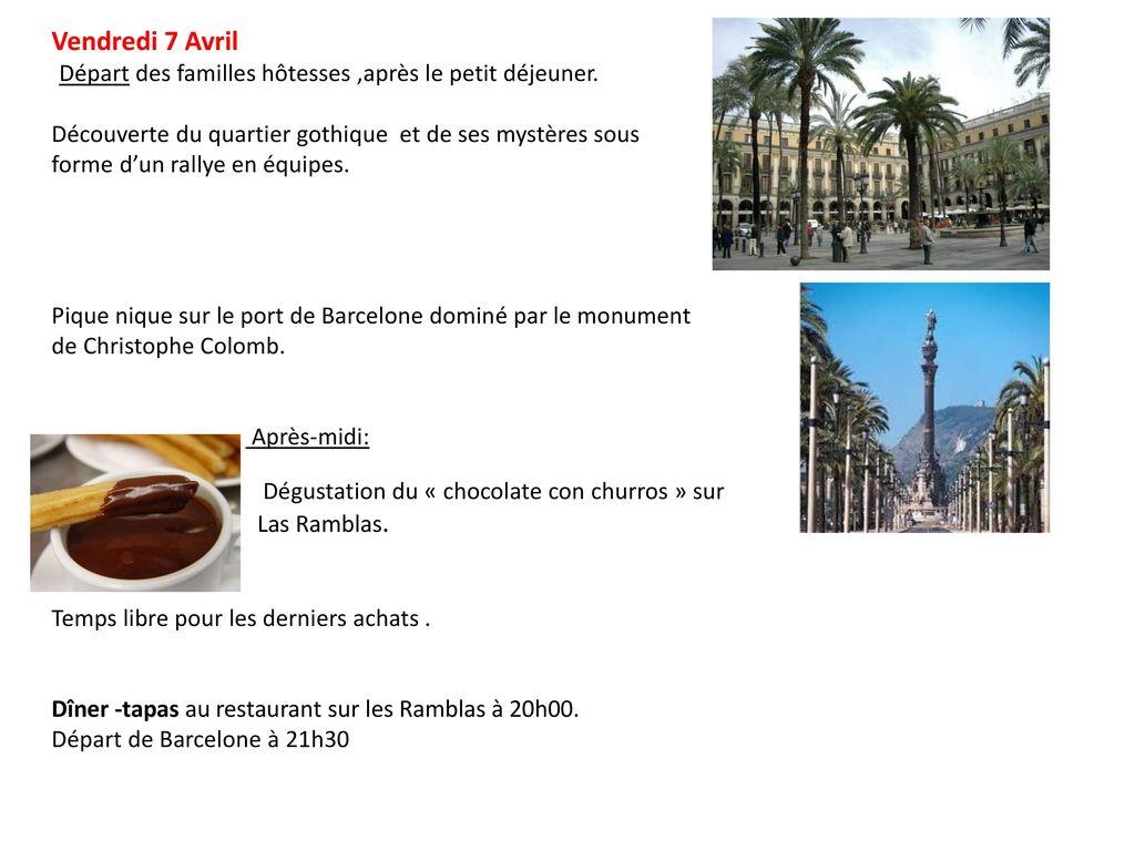 Barcelona du lundi 3 avril au samedi 8 avril ppt t l charger - Restaurant les terrasses du petit port nantes ...