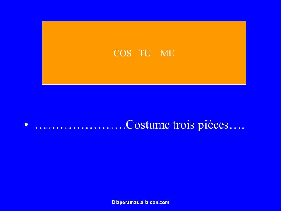 ………………….Costume trois pièces….