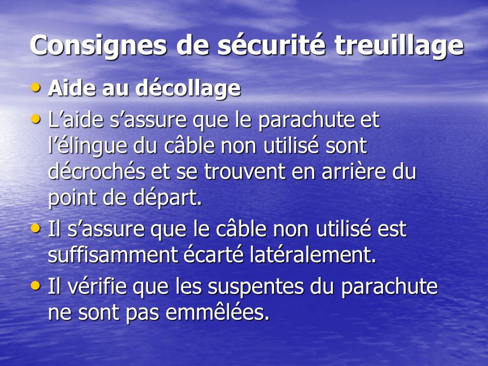 Consignes de sécurité treuillage